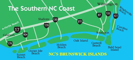 Coastal NC Area Map