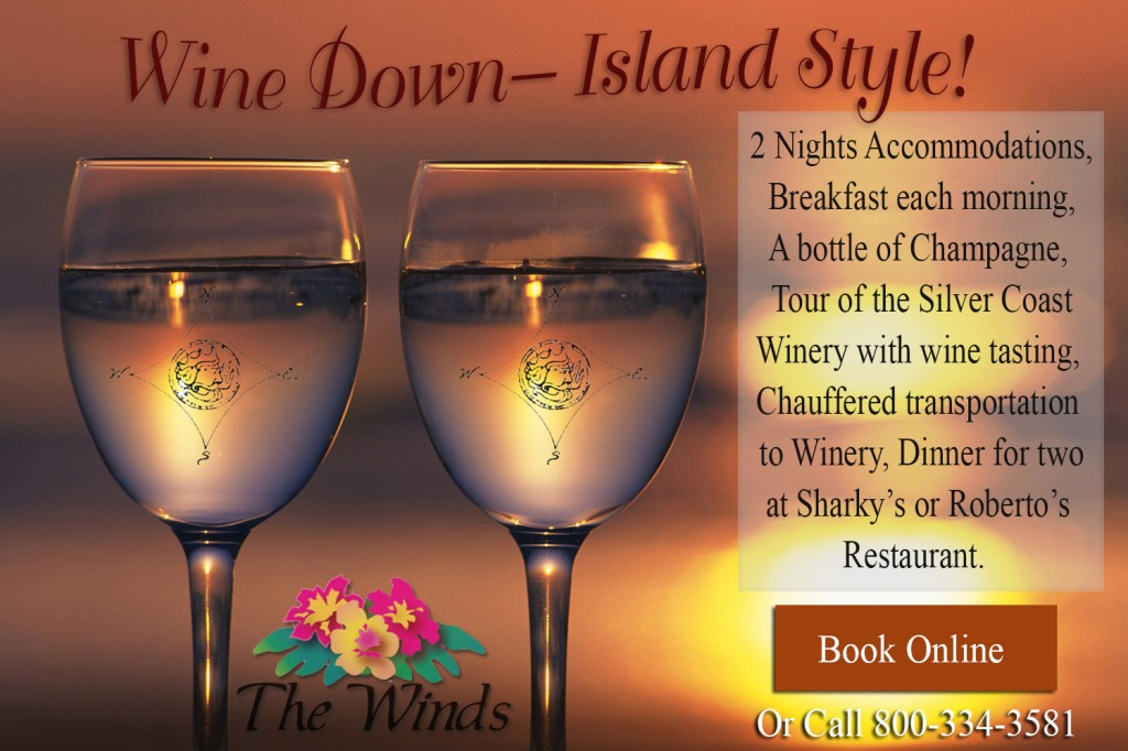 Wine Down Island Stye Package with logo