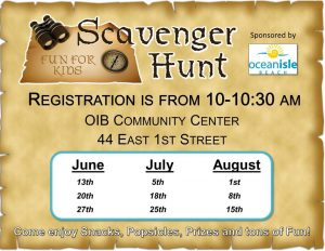 Ocean Isle Beach Scavenger Hunts @ Ocean Isle Beach Community Center