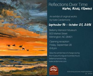 Reflections over Time: Water, Birds, Flowers exhibit Opening Reception @ The Bellamy Mansion Museum