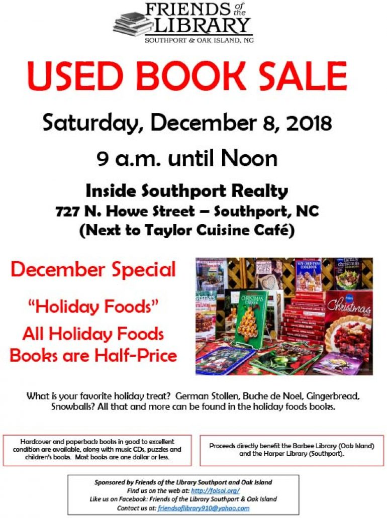 Friends of the Library Southport & Oak Island USED BOOK SALE